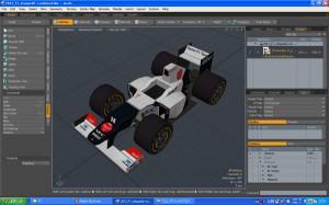 Sauber C31 F1 2012 3D model for paper craft image