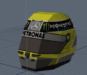 Nico Rosberg's helmet for paper craft
