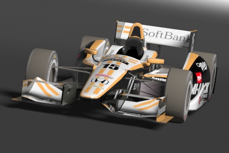 IndyCar  DW12 SoftBank Rahal Letterman Lanigan Racing : Fake