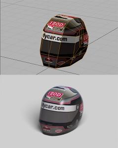 ダン・ウェルドン DW12 テスト走行時のヘルメット