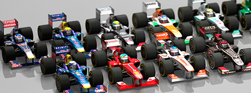 F1 2013 launch model deformed