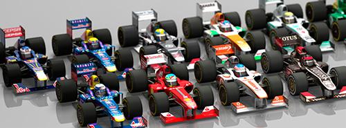 F1 2013 launch model deformed