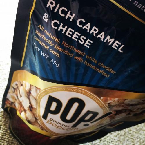 POP!  グルメポップコーン  リッチキャラメル&チーズ