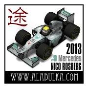 Mercedes W04 F1 2013 Nico
