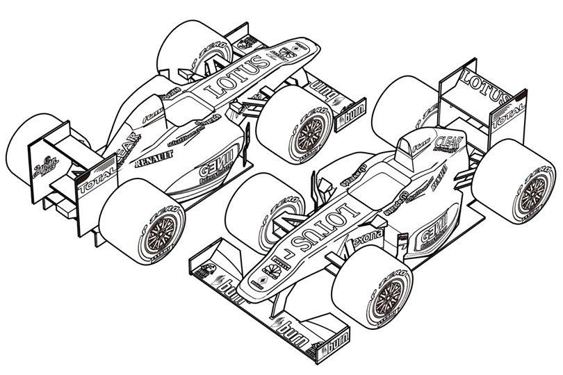 F1塗り絵