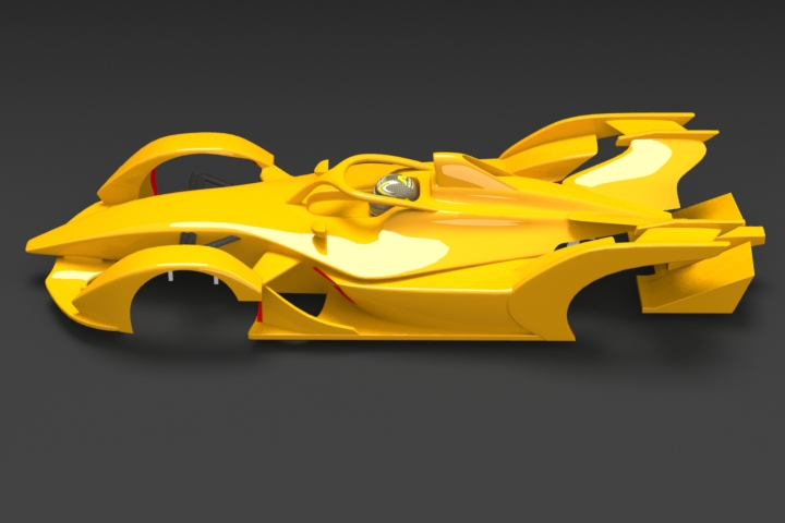 Formula E Gen2 R/C Body 3D Print