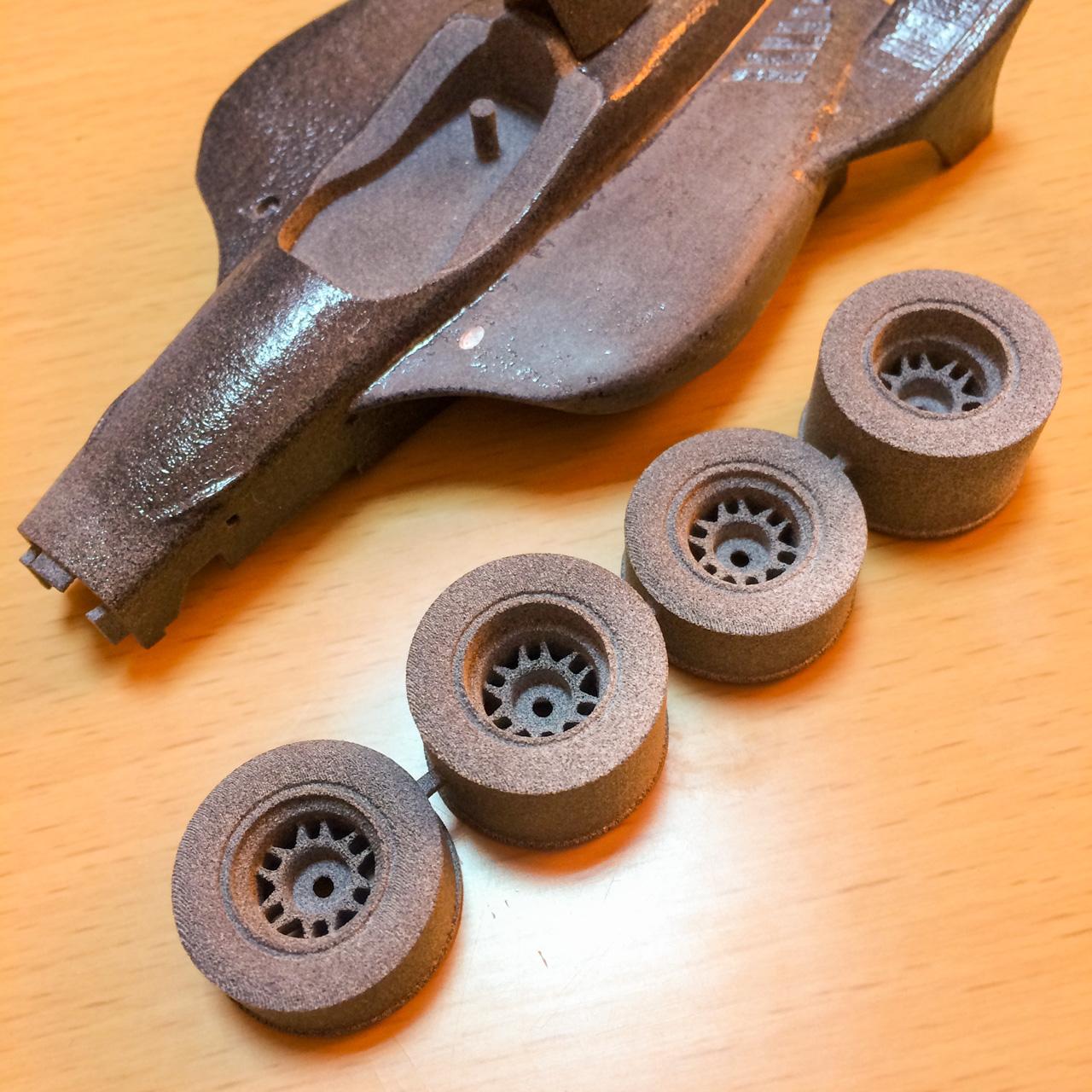 3d printed Indycar wheel for miniz f1