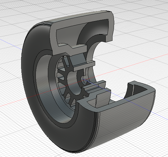 Indycar Wheel for Miniz F1