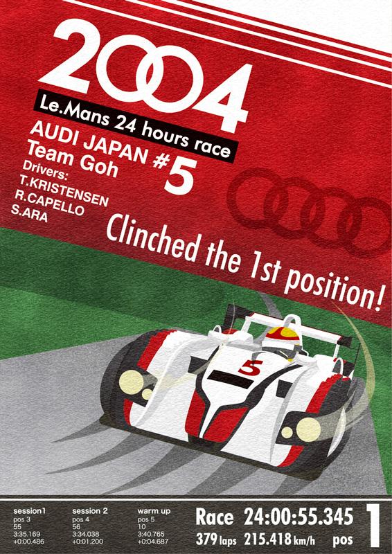 ミニカーファン誌掲載。2004年ル・マン24時間優勝記念ポスター