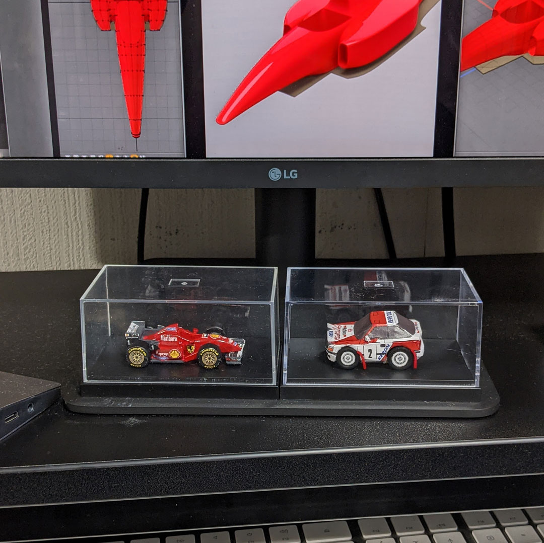 F310とST165のデフォルメ3Dプリント模型