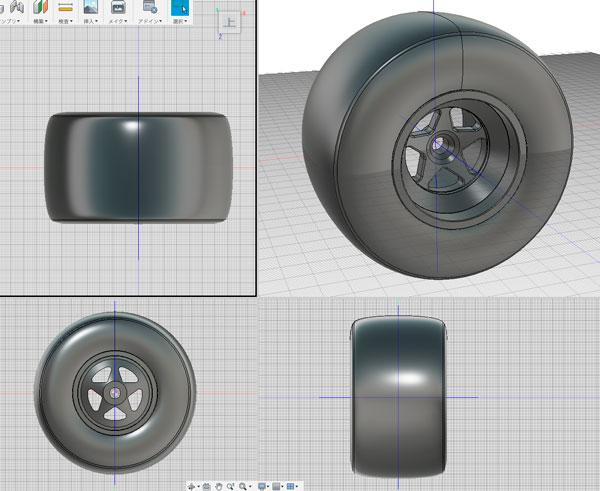 fusion360で作ったLotu107用OZホイール
