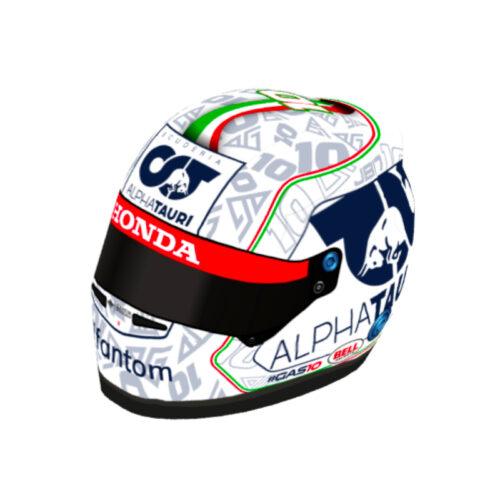 ガスリーのイタリアGP仕様ヘルメットがカッコいい