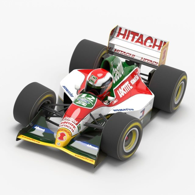 GP CAR Story vol.32 #Lotus107 will be published soon. #johnnyherbert Johnny be good. #gpcarstory #3dcg #f1