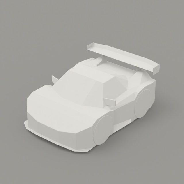 昔途中まで作ってたファイルが出てきたので、最近作っているデフォルメに合わせて整えておいた。テクスチャと展開はまたいつか。 #jgtc #nsx #3dcg for #pepakuradesigner #papercar